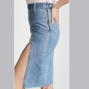 LEVI'S THE LONG SKIRT WITH SLIT! BRAND NEW!